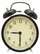 นาฬิกาปลุกสีดำ