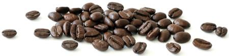 เมล็ดกาแฟกระจายในแนวนอน
