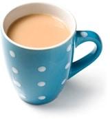 ถ้วยชาใส่นม