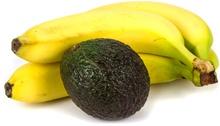กล้วยสี่ลูกและอะโวคาโด