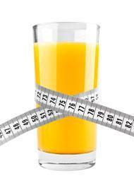 น้ำส้ม 1 แก้วพร้อมตลับเมตร