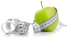 แอปเปิ้ลเขียวและเทปวัด