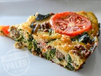 Frittata เนื้อผักโขมแสนอร่อย