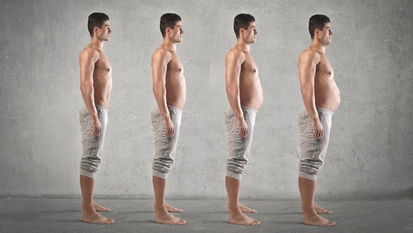 ผู้ชายที่มีไขมันในร่างกายแตกต่างกัน