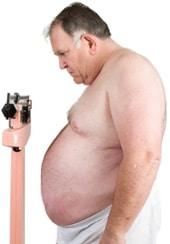 ผู้ชายอ้วนในระดับที่เล็กกว่า