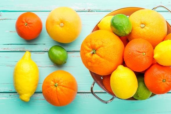 ส้มมะนาวมะนาวเกรปฟรุตและแมนดาริน