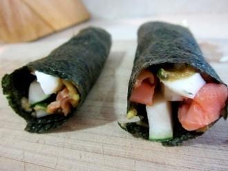 Paleo Sushi สำหรับมื้อกลางวัน