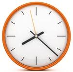 นาฬิกาทรงกลมสีส้ม