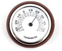 เครื่องวัดอุณหภูมิแบบกลมพร้อมกรอบไม้