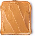 ขนมปังแผ่นกับเนยถั่ว