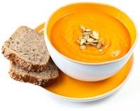 ซุปขนมปังและเมล็ดฟักทอง
