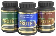 ผงโปรตีนสามประเภท
