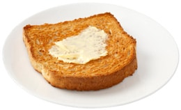 ขนมปังปิ้งกับเนยเทียม