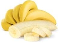 กล้วยทั้งหั่นและปอกเปลือก