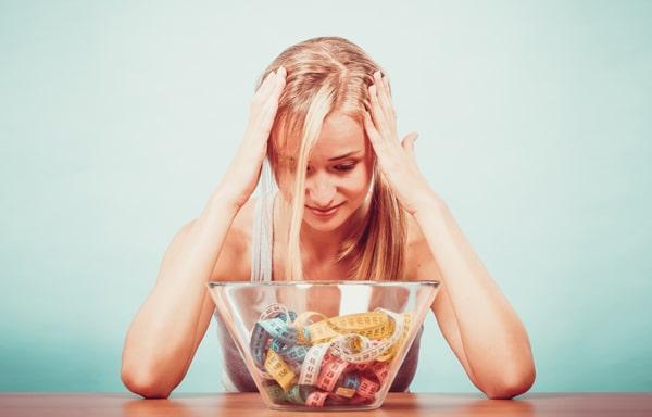 ผู้หญิงผิดหวังกับอาหาร