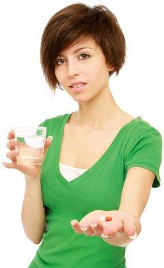 ผู้หญิงไม่เชื่อเกี่ยวกับการทานยา